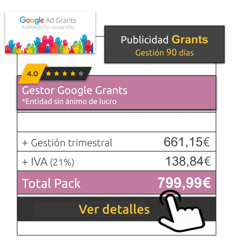 Gestor Google Grants 90 días