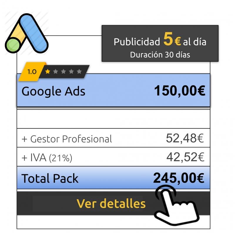 Anuncios Google Ads 5€ al día